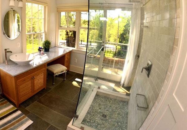 bathroom renovation with tile