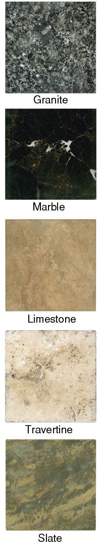Stone tile types